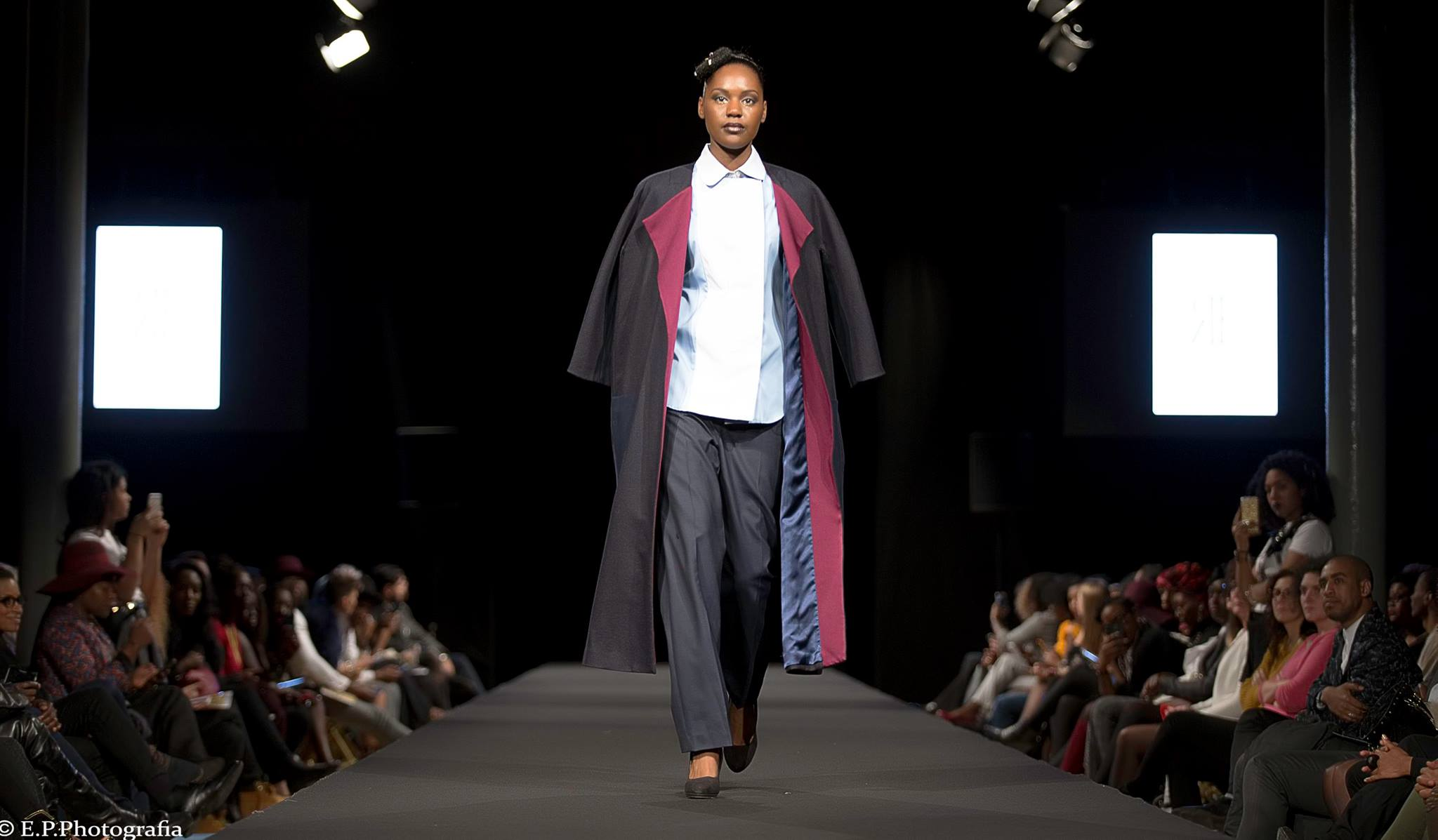 racha farah black fashion week paris 1