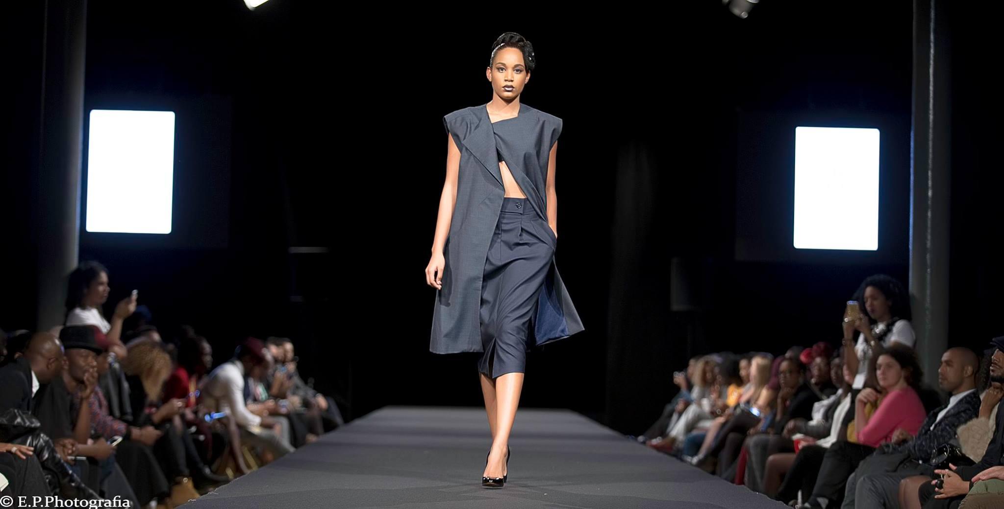 racha farah black fashion week paris