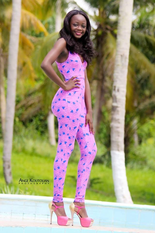 achelle djaniklo candidate miss côte d'ivoire 2016